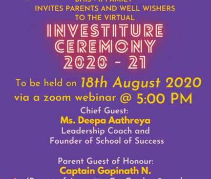 Poster Invite - Investiture