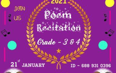 Poem-recitation grade 3 & 4