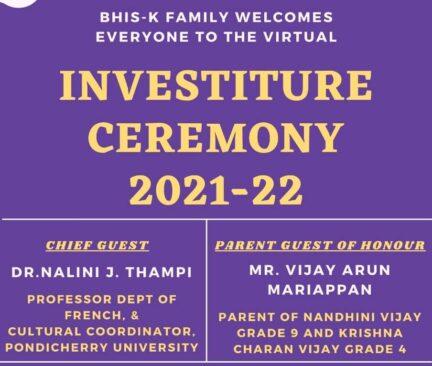 Investiture Ceremony creative